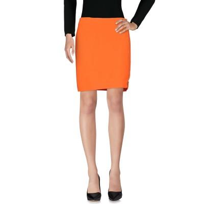 VERSACE ひざ丈スカート オレンジ 38 51% レーヨン 46% アセテート 3% ポリウレタン ひざ丈スカート