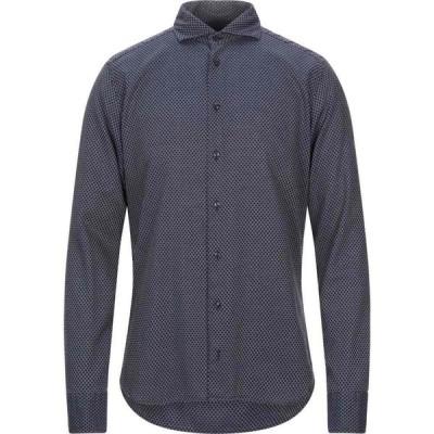 エクシビット EXIBIT メンズ シャツ トップス patterned shirt Dark blue