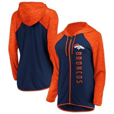ファナティクス ブランデッド レディース パーカー・スウェット アウター Denver Broncos Fanatics Branded Women's Forever Fan Full-Zip Hoodie