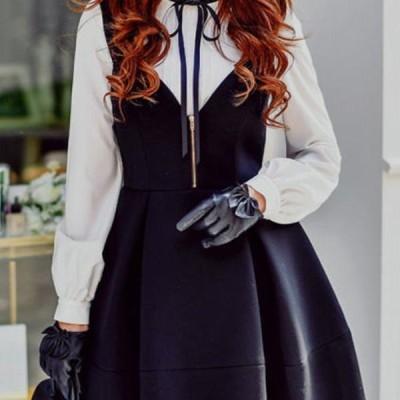 【フレア スカート★送料無料】ファスナー肩紐付きふんわりフレアミニスカート♪ジャンバースカート ブラック 黒 お嬢様 きれいめD16DRS007