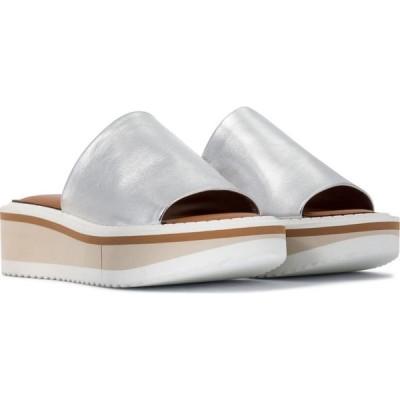 ロベール クレジュリー Clergerie レディース サンダル・ミュール シューズ・靴 fastie leather platform slides Silver