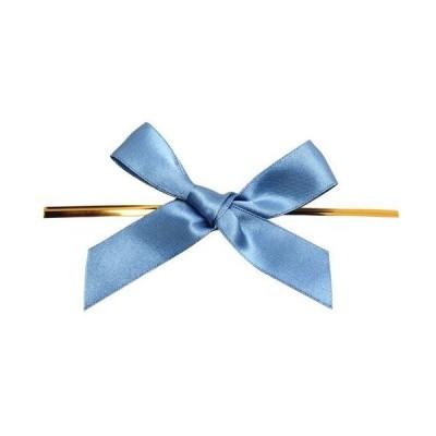 青山リボン リーガルタイドボウ ビニタイ付 18mm×100個 #032 7214-32 加工タイ+リボン