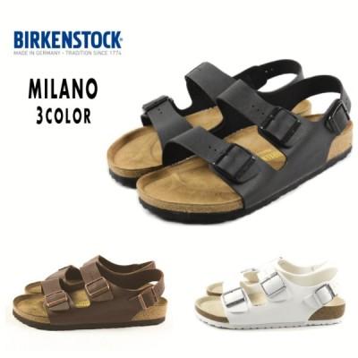 定番 ビルケンシュトック BIRKENSTOCK サンダル ミラノ MILANO ブラック(034791) ホワイト(034731) ダークブラウン(034701) メンズ