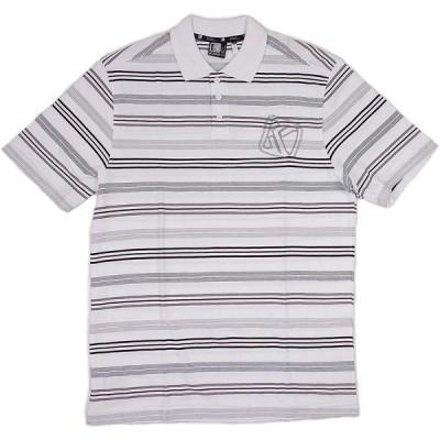 [並行輸入品] KARLKANI カールカナイ ロゴ刺繍 ボーダー ポロシャツ(ホワイト)