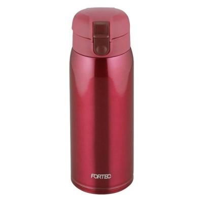 フォルテック・パーク ワンタッチ栓マグボトル600mL(レッド) RH-1272 水筒 軽量 軽い ステンレス おしゃれ 真空断熱構造 コンパクト 持ち運び便利  (約)76×