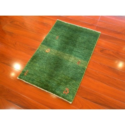 【新品】ギャッベ イラン シラーズ産手織り 玄関マット/お部屋のワンポイントに!オールシーズンOK G-1280
