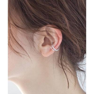 <CYCRO>SV925 片耳ダブルラインイヤーカフ