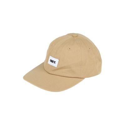 オベイ OBEY 帽子 サンド one size オーガニックコットン 100% 帽子