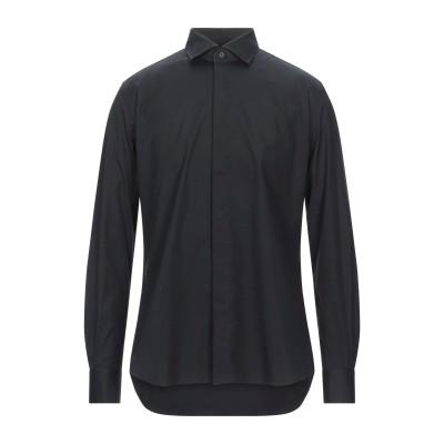 CELLINI シャツ ブラック 43 コットン 96% / ポリウレタン 4% シャツ