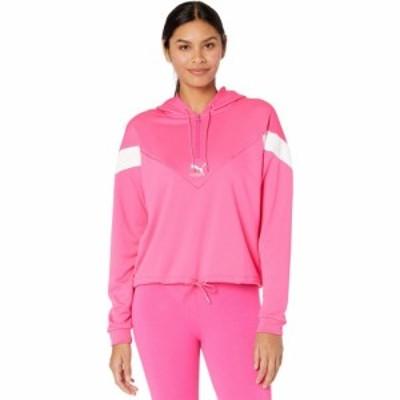 プーマ PUMA レディース パーカー トップス Classics MCS 1/2 Zip Hoodie Glowing Pink