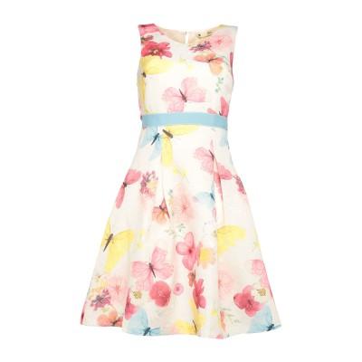 YUMI' ミニワンピース&ドレス ホワイト 12 ポリエステル 100% ミニワンピース&ドレス