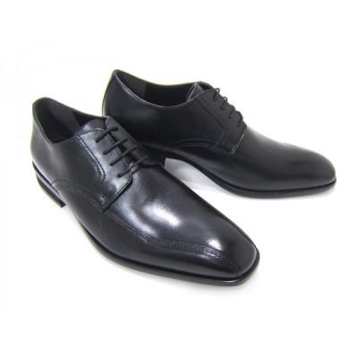 HIROKO KOSHINO/ヒロコ コシノ ビジネス HK127-BLK紳士靴 ブラック スワールモカ 外羽根 ロングノーズ3Eワイズ ビジネス 送料無料
