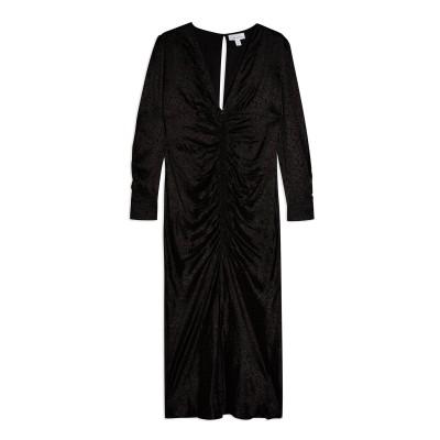 トップショップ TOPSHOP 7分丈ワンピース・ドレス ブラック 6 レーヨン 100% 7分丈ワンピース・ドレス