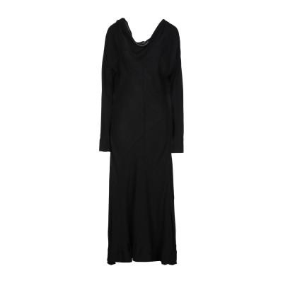 MALLONI ロングワンピース&ドレス ブラック 46 レーヨン 100% ロングワンピース&ドレス