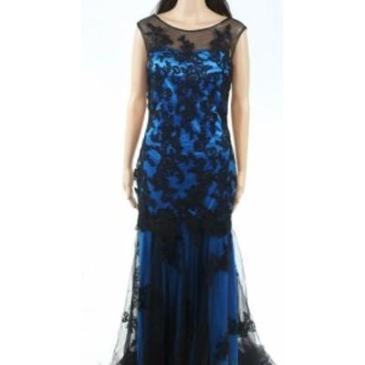 ファッション ドレス Babyonlinedress Womens Blue Size Medium M Illusion LaceGown Dress