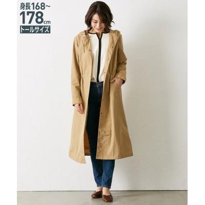 トールサイズ ロング丈フード付コート 【高身長・長身】コート, tall size, Coat