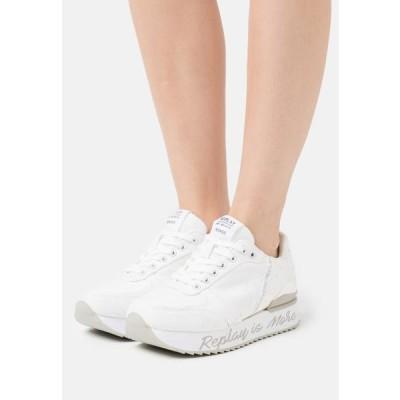 リプレイ レディース 靴 シューズ HAMER - Trainers - white
