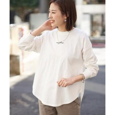 tシャツ Tシャツ バックプリントハイネック刺繍Tee