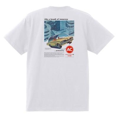 アドバタイジング ポンティアック 423 白 Tシャツ 黒地へ変更可能 1962 グランプリ テンペスト ボンネビル カタリナ アメ車