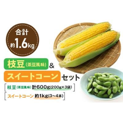 ZB5 『枝豆(茶豆風味)&スイートコーンセット』約1.6kg(都農町産)
