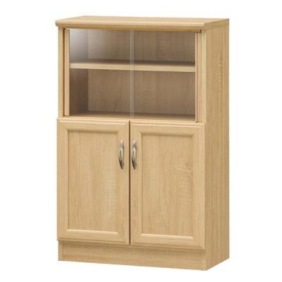白井産業 ミニカップボード ホノボーラ 高さ87.9cm カップボード 食器棚 キッチンボード 収納 ラック キッチンキャビネット コンパクト 代引不可
