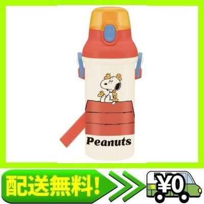 スケーター 子供用 Ag+ 抗菌プラスチック 水筒 480ml ピーナッツ レトロ スヌーピー 日本製 PSB5SANAG-A