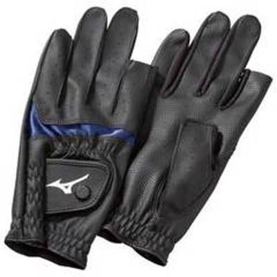 ミズノ グラウンドゴルフグローブ  (ブラック×ブルー・サイズ:S 目安:21~22cm) MIZUNO 手袋合皮指出しタイプ(両手) C3JGP802-27 【返品種別A】