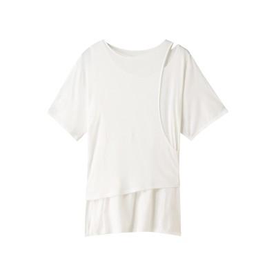 Rito リト コットンジャージーレイヤードTシャツ レディース ホワイト 38