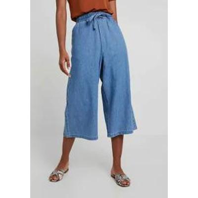 Monki レディースパンツ Monki CULOTTE - Trousers - blue blue