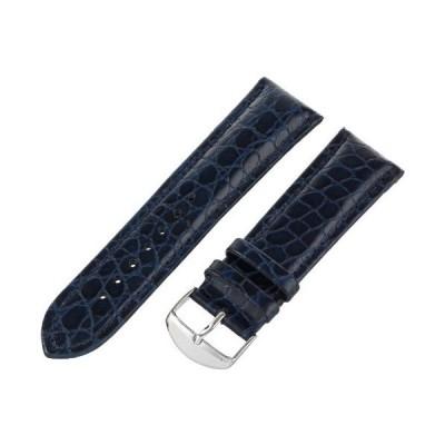 hadley-romaメンズmsm907rf-200?20-mmブルー本革時計ストラップ並行輸入品