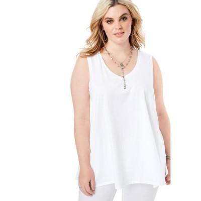 レディース 衣類 トップス Roaman's Women's Plus Size Swing Ultimate Tank ブラウス&シャツ