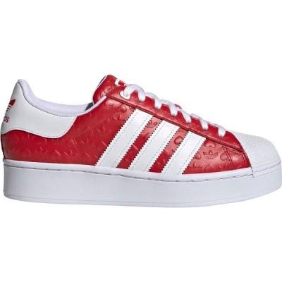 アディダス スニーカー シューズ レディース adidas Originals Women's Superstar Shoes Red/Red/White