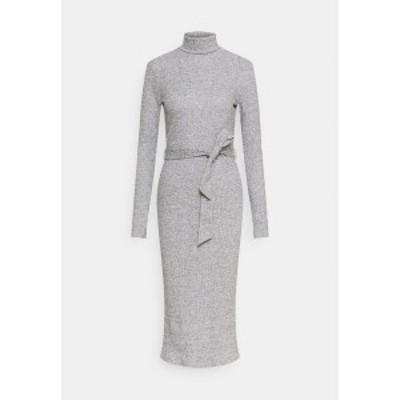 ドロシーパーキンス レディース ワンピース トップス BRUSHED BODYCON TIE WAIST - Shift dress - grey grey