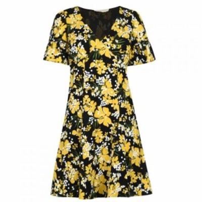 マイケル コース MICHAEL Michael Kors レディース ワンピース ワンピース・ドレス Short Sleeve Floral Mini Dress Blk/Dandeln