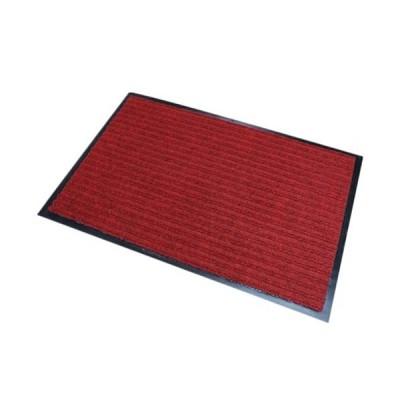 玄関マット 屋外 室内 滑り止め 業務用 無地 マット シンプル 泥落とし 吸水(レッド)