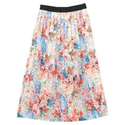 SI-JAY 7分丈スカート レッド 40 ポリエステル 100% 7分丈スカート