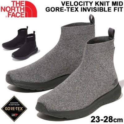 防水シューズ ミッドカット 靴 メンズ レディース/ノースフェイス THE NORTH FACE ベロシティニット GORE-TEX インビジブルフィット/アウトドア /NF51997