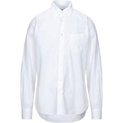 オフィシン ジェネラーレ OFFICINE GENERALE Paris 6? メンズ シャツ トップス Solid Color Shirt White