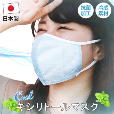 メール便送料無料 キシリトール 冷感 マスク 布マスク 洗える 洗濯可 清潔 夏マスク ひんやり キシリトール メッシュ 日本製
