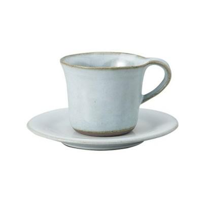 洋食器 カップ&ソーサー / フローラ白天目コーヒー碗皿 寸法: C:10.5 x 8.7 x 5.2cm 190cc S:14cm
