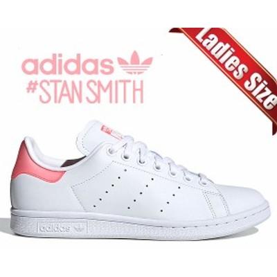 【アディダス スタンスミス ウィメンズ】adidas STAN SMITH W FTWWHT/SIGPNK/FTWWHT fu9649 レディース スニーカー ホワイト クリア ピン