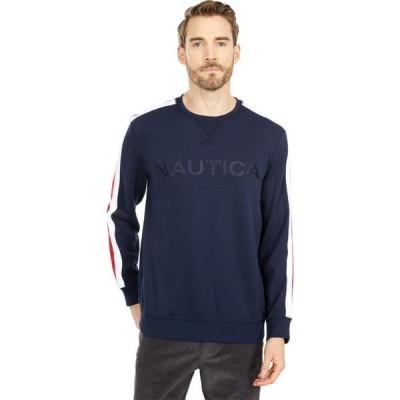 ノーティカ Nautica メンズ スウェット・トレーナー トップス Logo Fleece Sweatshirt Navy