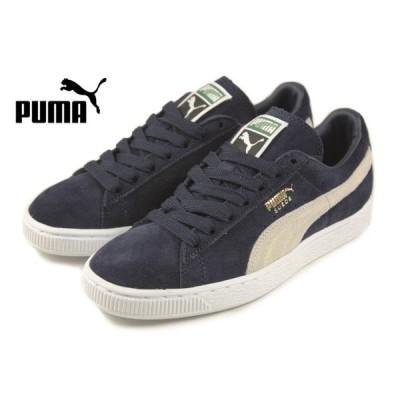 定番 プーマ PUMA SUEDE CLASSIC + スウェード クラシック プラス ピーコート/ホワイト 356568-51