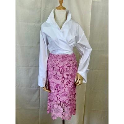 レースタイトスカート Mサイズ ピンク 送料無料