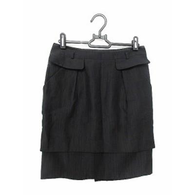 【中古】ボディドレッシングデラックス BODY DRESSING Deluxe スカート タイト ミニ 36 黒 ブラック /AAM レディース