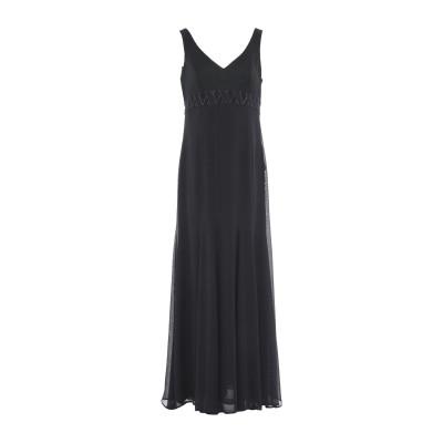 SWEET R.E.M. ロングワンピース&ドレス ブラック 44 シルク 100% ロングワンピース&ドレス
