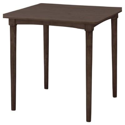 ダイニングテーブル テーブル 机 ブラウン 茶色 おしゃれ 北欧 2人用 木製 天然木 食卓 正方形 リビングテーブル アジャスター付 NET-829TBR / 東谷