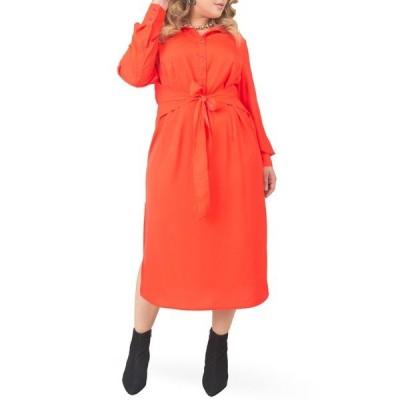 スタンダーズアンドプラクティス ワンピース トップス レディース Tie Waist Long Sleeve Midi Dress Cherry
