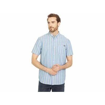 (取寄)バンズ S/S ウーブン Vans Houser S/S Woven Moroccan Blue/Dried Tobacco Stripe