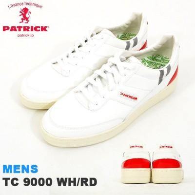 スニーカー パトリック PATRICK メンズ TC 9000 WH/RD ティーシー ホワイト/レッド ローカット シューズ 靴 日本製 531007 送料無料